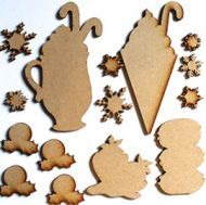 3-D Sweet Christmas Ornament Kit - Wood