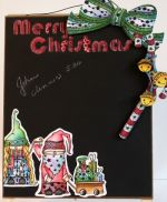 Merry Christmas Chalkboard  E-Packet