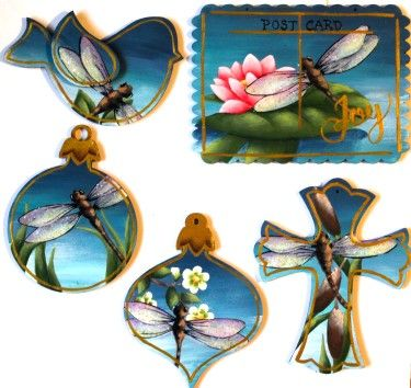 Dragonfly Ornaments  Pattern Packet
