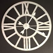 Galvanized Clock  Tin and Metal