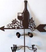 Merlot Weathervane  Tin and Metal