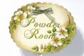White Roses Powder Room    E-Packet