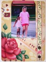 Rose Collage Clipboard   E-Packet